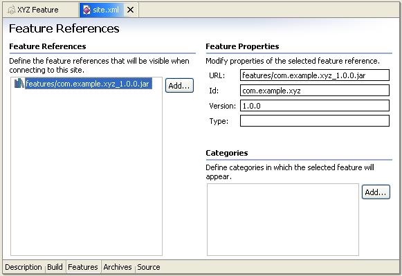 Eclipse updating archives model