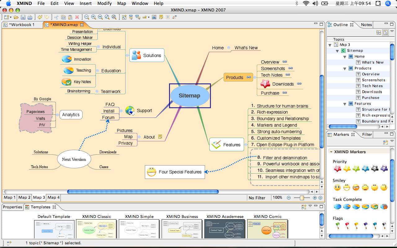Visual Mapping: Xmind 3.1 beta...