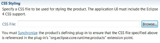 Your product must have the Eclipse 4 CSS support installed and you must synchronize the product with its defining plug-in to keep the extension point up to date.