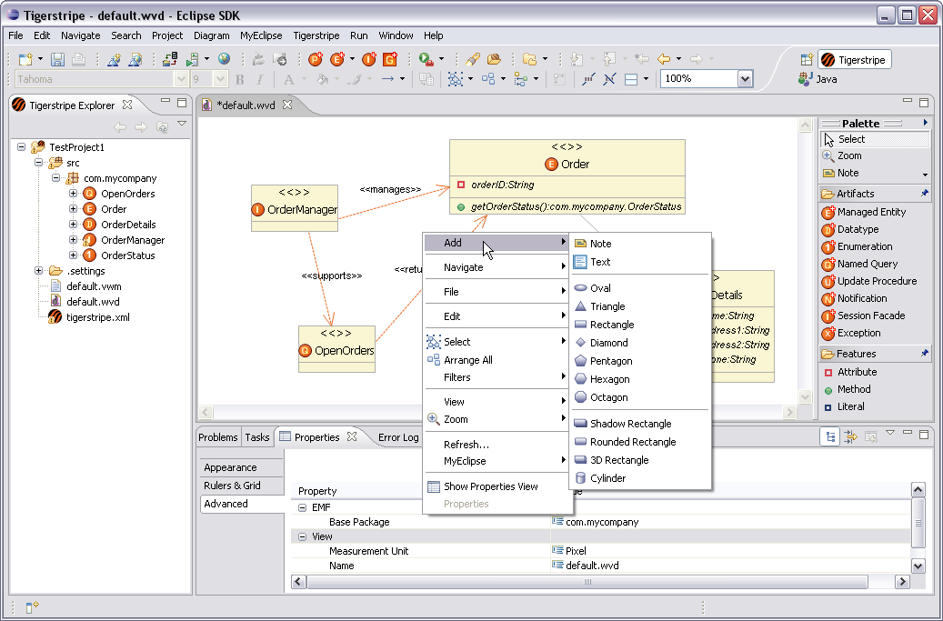 Additional Class Diagram Editor Tools