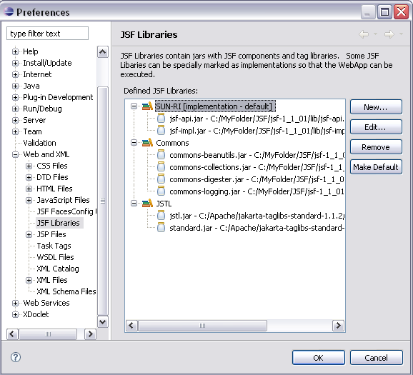 how to create jsf page in eclipse
