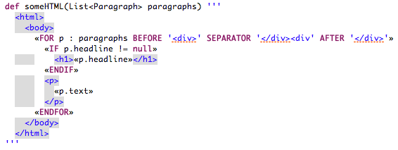 Xtend expressions syntax coloring for templates in eclipse maxwellsz