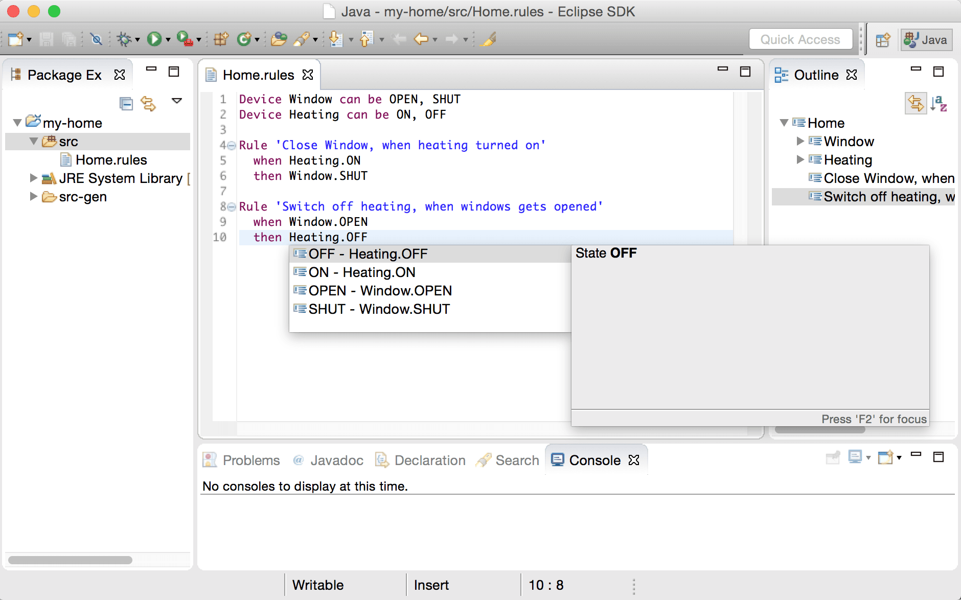 Xtext in Eclipse