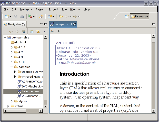 Authoring with Eclipse