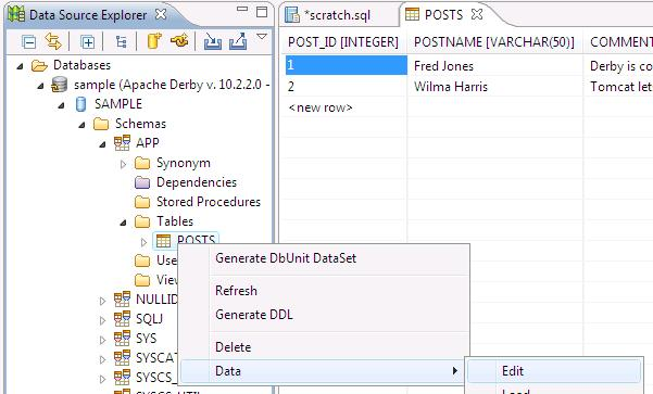 Eclipse Corner Article: Creating Database Web Applications