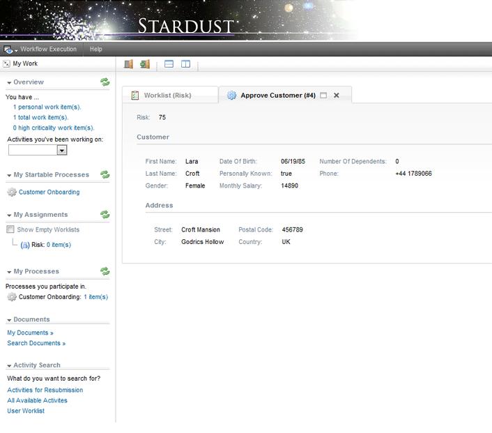 Stardust - A Comprehensive Business Process Management Suite