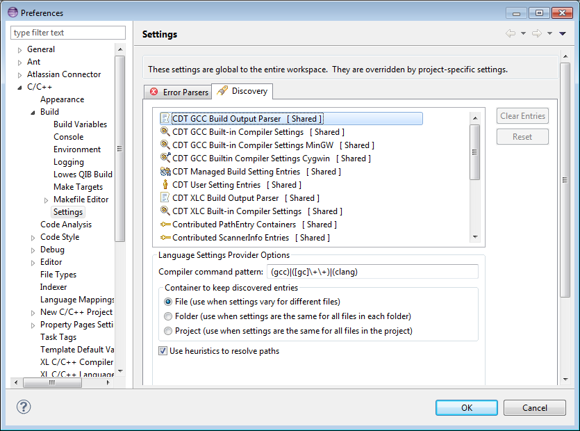 Setting Up Include Paths and Macros for C/C++ Indexer   The Eclipse