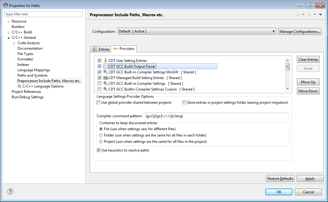 Setting Up Include Paths and Macros for C/C++ Indexer   The
