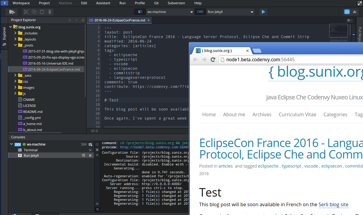 Simplified Open Source Contributions with Eclipse Che | The Eclipse