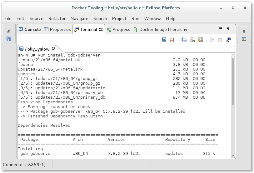 Docker Container Support in CDT | The Eclipse Foundation