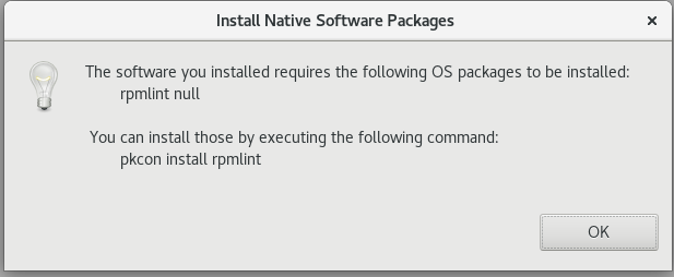 install native software packages