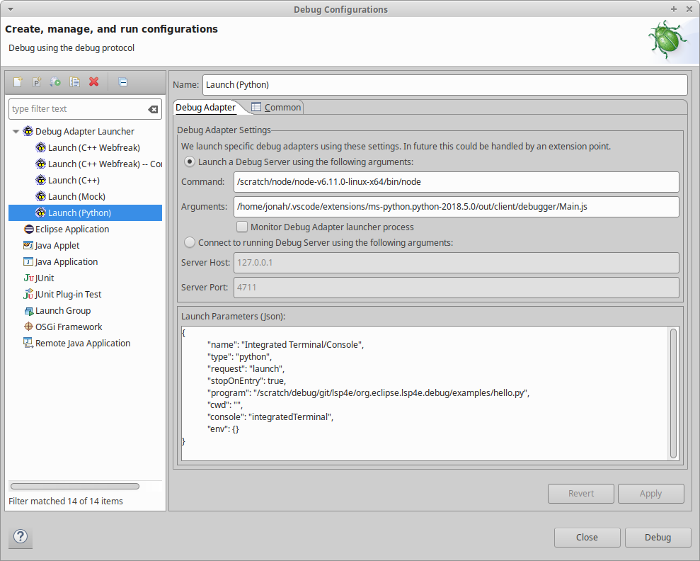 LSP4E in Eclipse IDE: more for Language (and debug) Servers