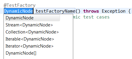 junit test template