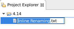 project explorer inline renaming