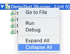 junit collapse all