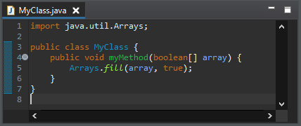 arrays fill after