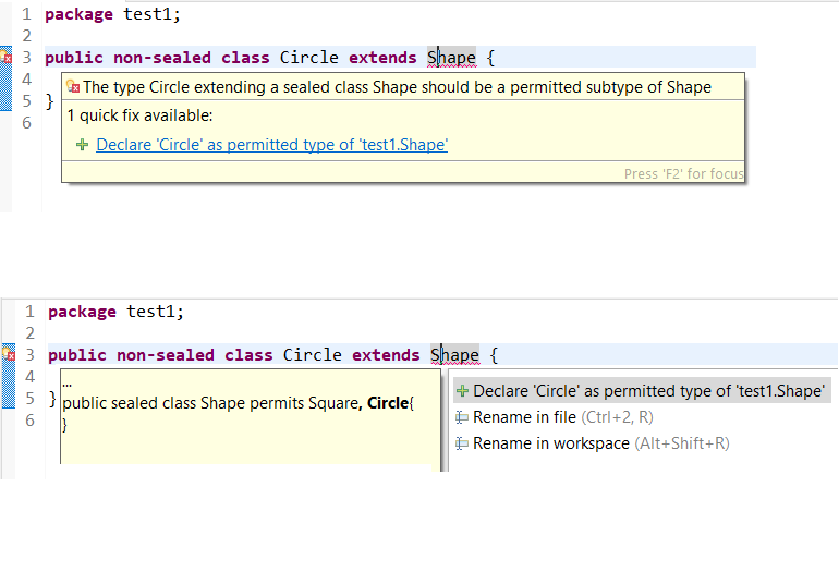 add subtype to permitted types of supertype