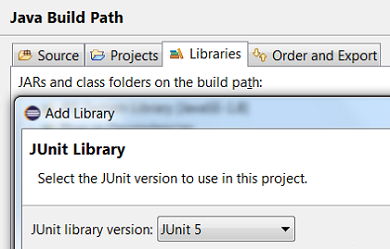 add junit 5 lib java build path