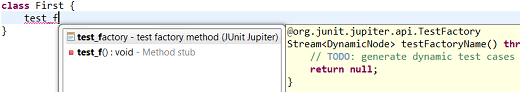 junit jupiter test factory template