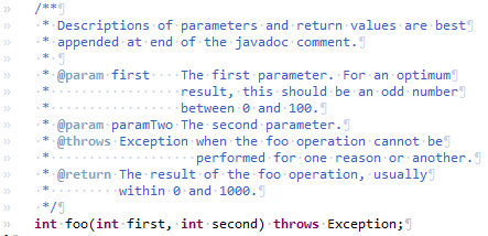 formatter javadoc preview
