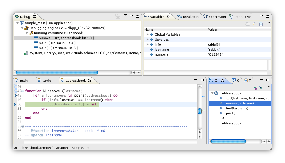 Debugger screenshot