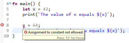 Error assigning to constant