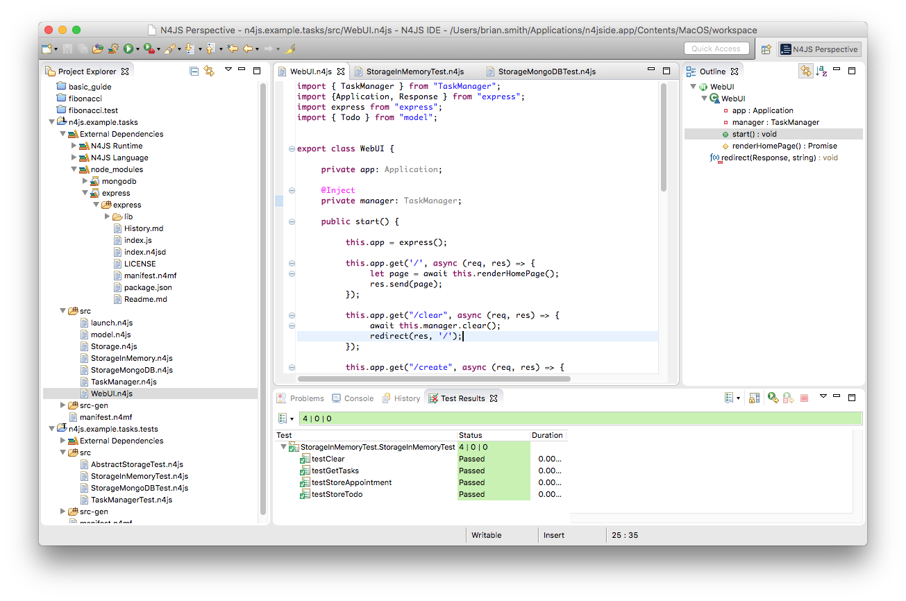 Eclipse N4JS Language and IDE