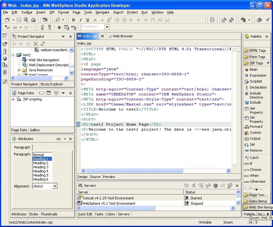 Eclipse Web Tools Platform Project Wiki: IBM Contributions