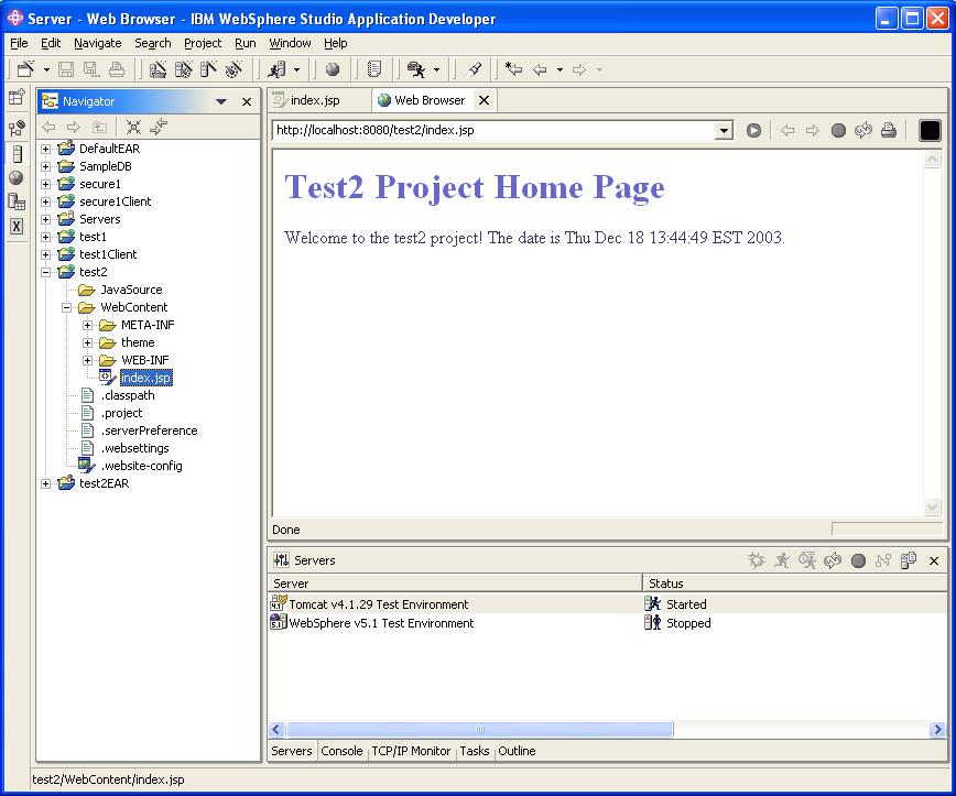 Eclipse web tools platform project wiki: ibm contributions.