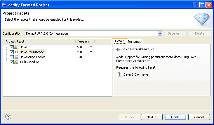 Converting a Java project to a JPA project