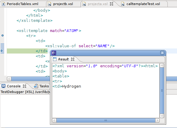 Web tools platform 31 news the xslt debugger now supports a result view the view will show the output that has been generated to the current break point as a user steps through code urtaz Image collections